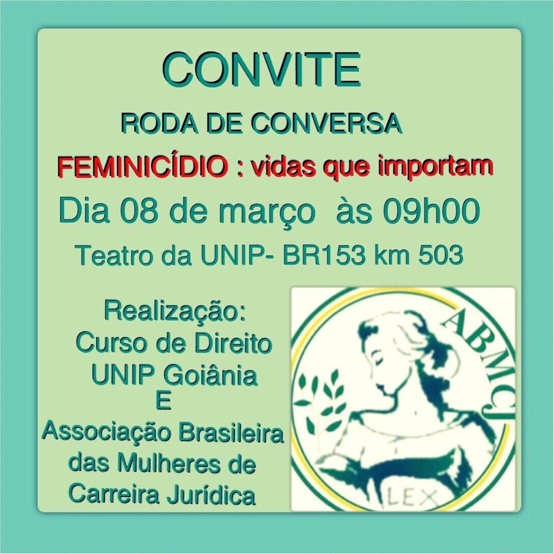 Roda de conversa – Feminicídio: vidas que importam