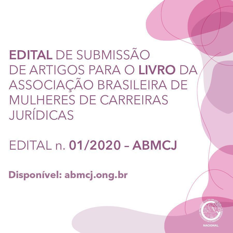 Edital de submissão de artigos para o livro da ABMCJ
