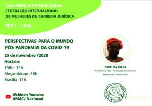 CONFERÊNCIA INTERNACIONAL DE MULHERES DE CARREIRA JURÍDICA